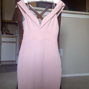 Pink off-the-shoulder Dress